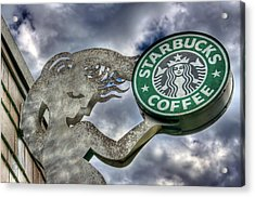 Starbucks Coffee Acrylic Print by Spencer McDonald