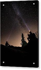 Stargazing At The Cascades With Dave Acrylic Print by Jakub Sisak