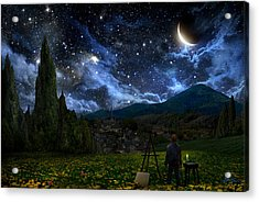 Starry Night Acrylic Print by Alex Ruiz
