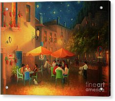 Starry Night Cafe Society Acrylic Print by Joe Gilronan