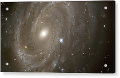 Stars And Spiral Galaxy Acrylic Print by The  Vault - Jennifer Rondinelli Reilly
