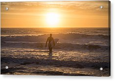 Start The Day Surfing Acrylic Print by Kristopher Schoenleber