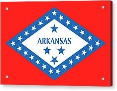 State Flag Of Arkansas Acrylic Print by American School