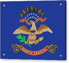 State Flag Of North Dakota Acrylic Print by American School