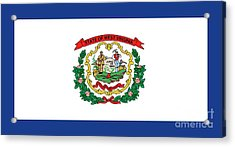 State Flag Of West Virginia Acrylic Print by American School