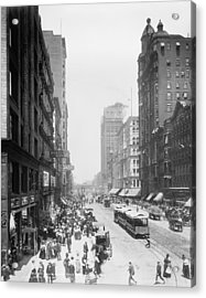 State Street - Chicago 1900 Acrylic Print by Daniel Hagerman