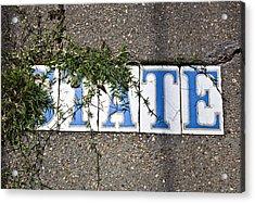 State Street Tiles Acrylic Print by Federico Arce
