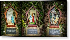 Stations Of The Cross 1 Acrylic Print by Adrian Evans