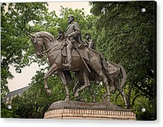 Statue Of General Robert E Lee On His Horse Traveller  Acrylic Print by Mountain Dreams