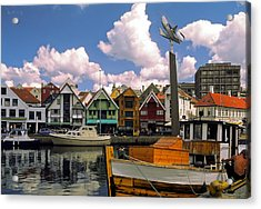Stavanger Harbor Acrylic Print by Sally Weigand