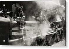 Steam Power Acrylic Print by Richard Rizzo