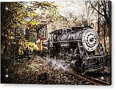 Steam Train's Coming Acrylic Print by Debra and Dave Vanderlaan