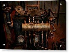 Steampunk - Plumbing - The Valve Matrix Acrylic Print by Mike Savad