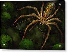 Steampunk - Spider - Arachnia Automata Acrylic Print by Mike Savad