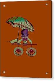 Steampunk T Shirt Design Acrylic Print by Bellesouth Studio