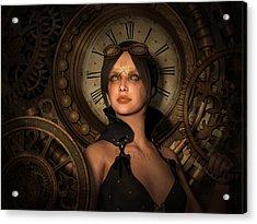 Steampunk Time Keeper Acrylic Print by Britta Glodde