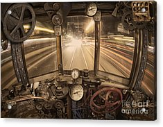 Steampunk Time Machine Acrylic Print by Keith Kapple