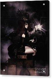 Steampunkxpress Acrylic Print by Shanina Conway