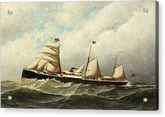 Steamship   Cornwall Acrylic Print by Antonio Jacobsen