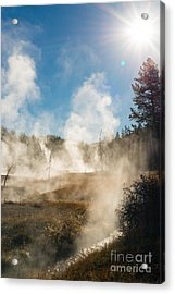 Steamy Sunrise Acrylic Print by Birches Photography