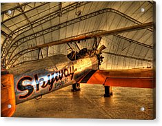 Stearman Acrylic Print by Jason Evans