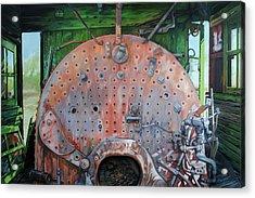 Steel Heart Acrylic Print by Chris Steinken