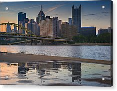 Steel Reflections Acrylic Print by Rick Berk