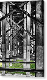 Steel Support Acrylic Print by Rudy Umans