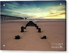 Steetly Pier Acrylic Print by Stephen Smith