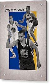 Stephen Curry Golden State Warriors Acrylic Print by Joe Hamilton