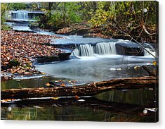 Stepstone Falls Acrylic Print by Andrew Pacheco