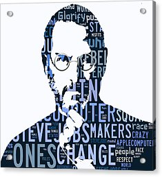 Steve Jobs Here's To The Crazy One's Speach Acrylic Print by Marvin Blaine