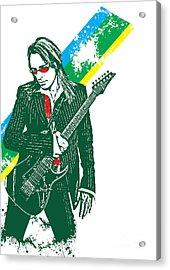 Steve Vai No.02 Acrylic Print by Unknow