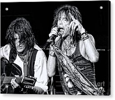 Steven Tyler Croons Acrylic Print by Traci Cottingham