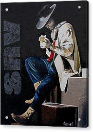 Stevie Acrylic Print by Ferrel Cordle