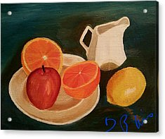 Still Life Fruit Acrylic Print by Diann Blevins