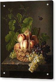 Still Life Acrylic Print by Gerardus van Spaendonck