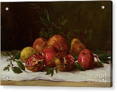 Still Life Acrylic Print by Gustave Courbet