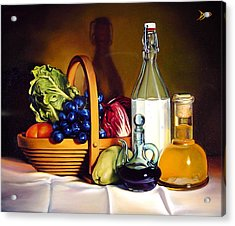 Still Life In Oil Acrylic Print by Patrick Anthony Pierson