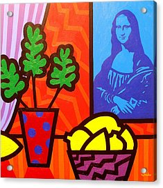 Still Life With Matisse And Mona Lisa Acrylic Print by John  Nolan