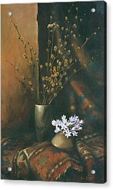 Still-life With Snow Drops Acrylic Print by Tigran Ghulyan