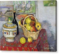 Still Life With Tureen Acrylic Print by Paul Cezanne