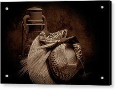 Still Life With Wheat II Acrylic Print by Tom Mc Nemar