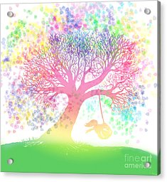 Still More Rainbow Tree Dreams 2 Acrylic Print by Nick Gustafson