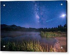 Still Night At Upper Molas Lake Acrylic Print by Michael J Bauer