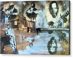 Still Raining Blues Acrylic Print by Scott Perry and Robert Wolverton Jr