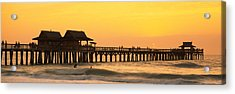 Stilt Houses On The Pier, Gulf Acrylic Print by Panoramic Images