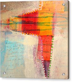 Stitched Life Acrylic Print by Nancy Merkle
