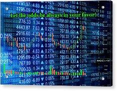Stock Exchange Acrylic Print by Anastasiya Malakhova