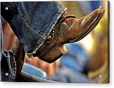 Stock Show Boots I Acrylic Print by Joan Carroll
